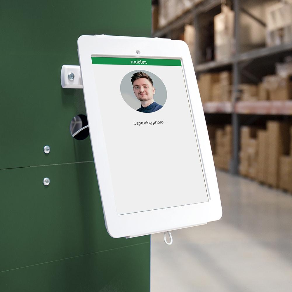 facial verification kiosk for employees