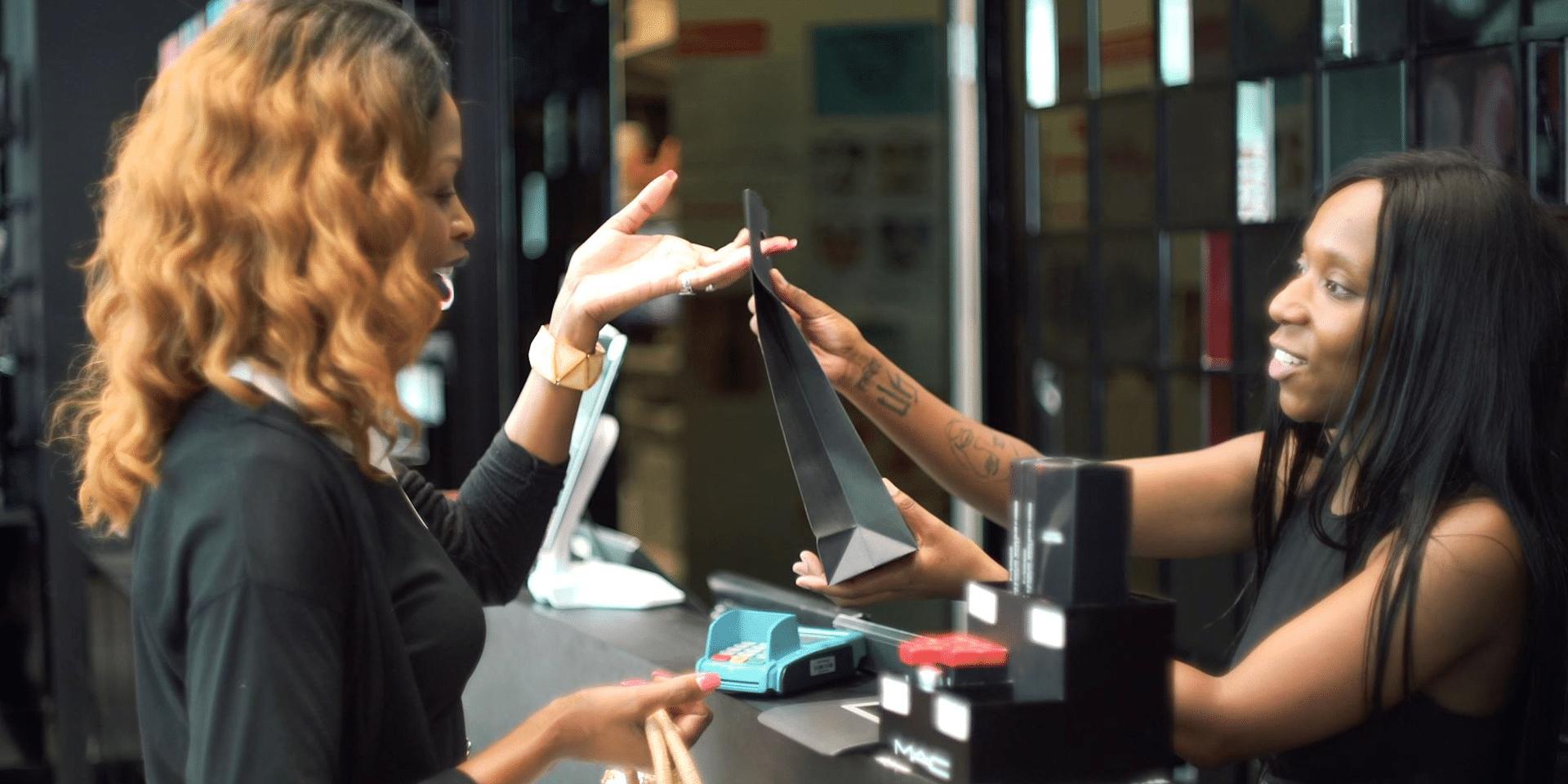 Customer shopping at MAC South Africa