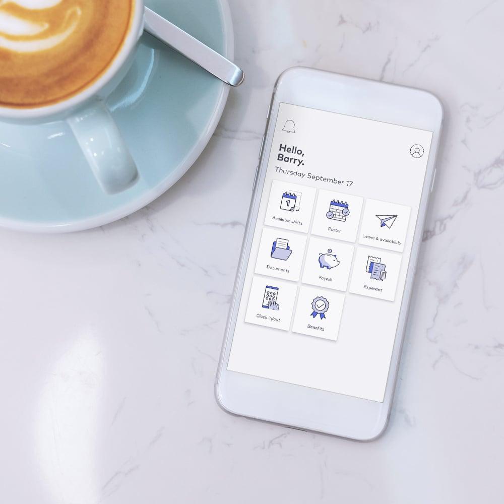 roubler app welcome screen