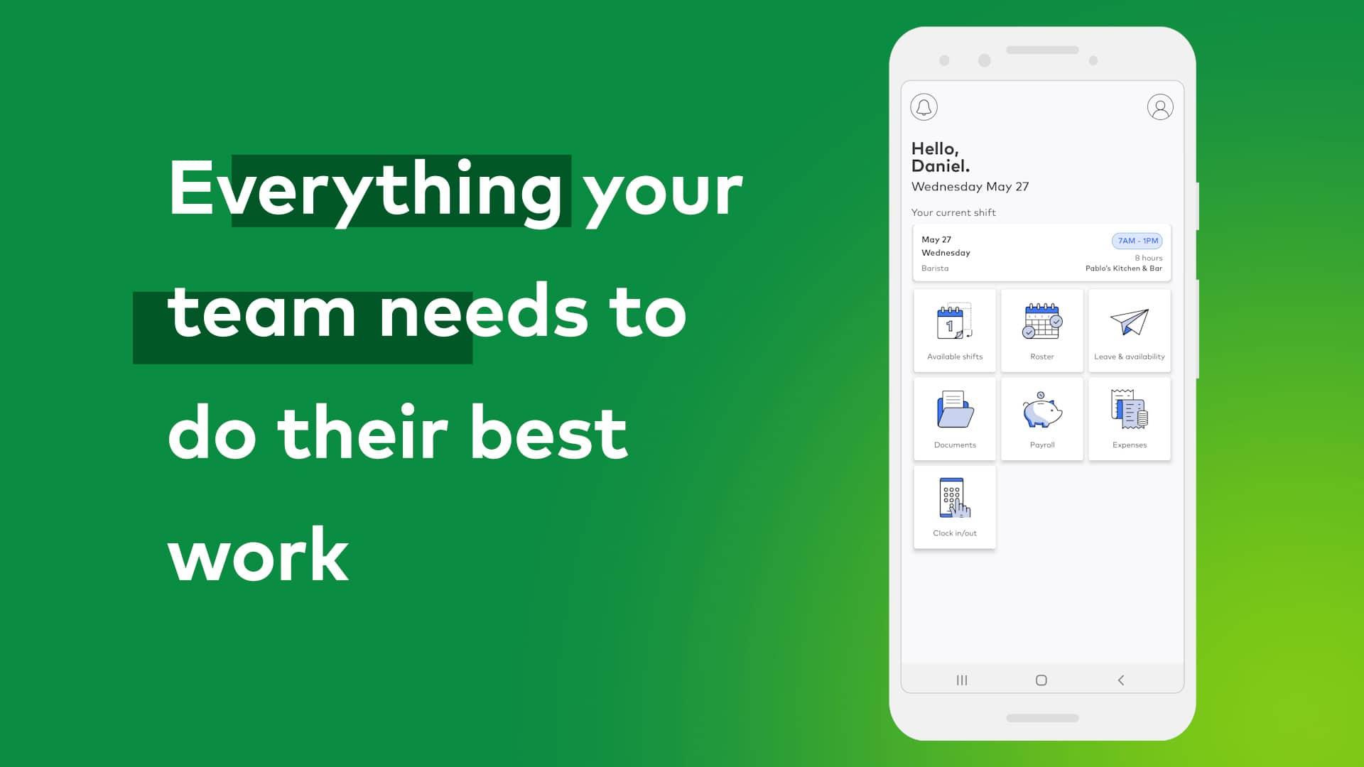 Employee self service mobile app
