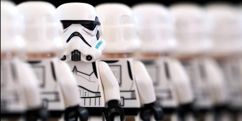 Lego stormtrooper employees