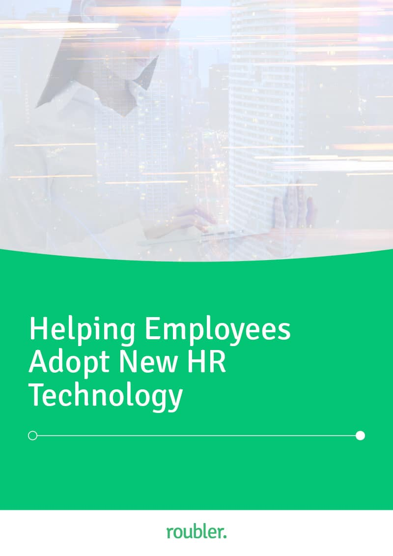 E-book about helping employees adopt new HR technology