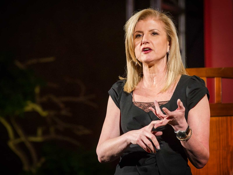 TED Talk TED Career Success and Happiness Adrianna Huffington