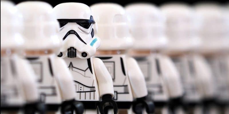 Lego stormtrooper employees