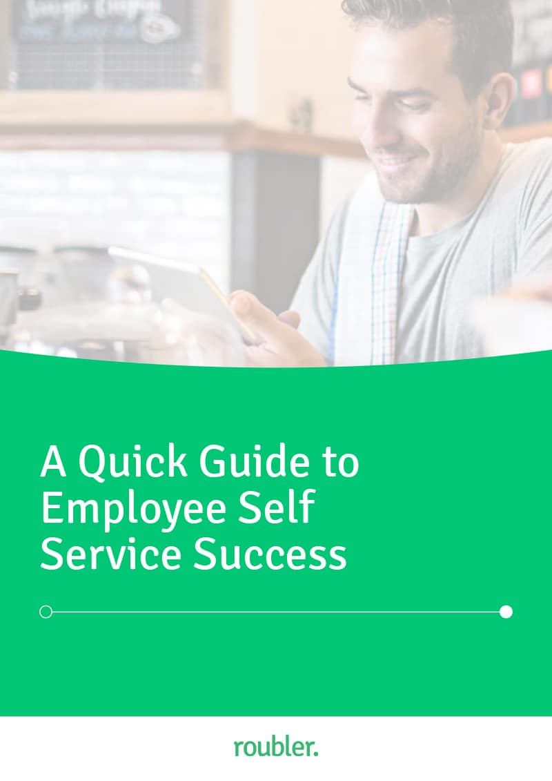 Cover of the Quick Guide to Employee Self Service Success' guide