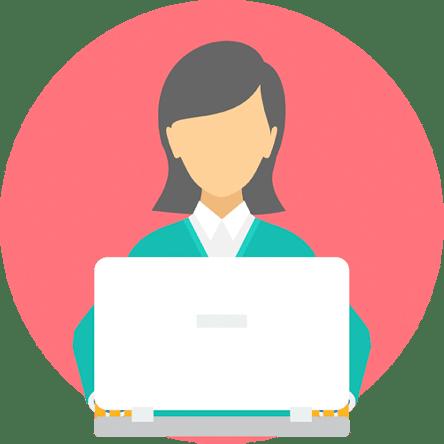 Computer user illustration