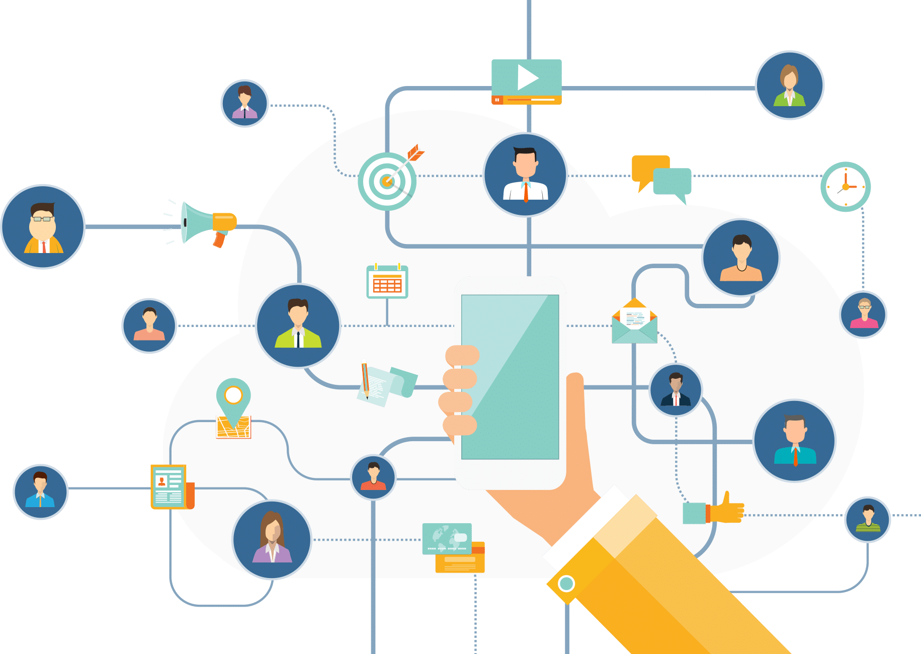 Network of features illustration