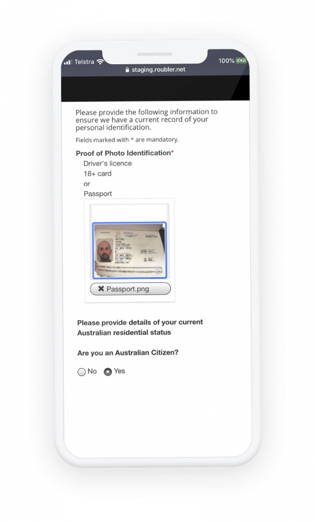 Onboarding on mobile