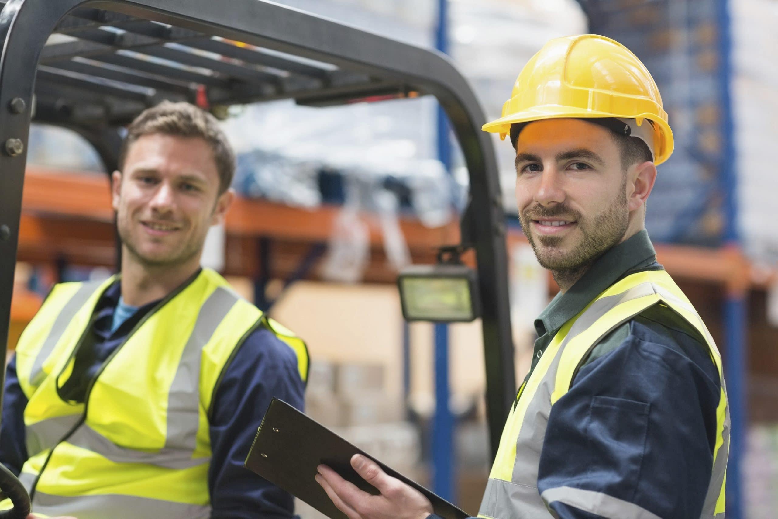 Forklift driver and supervisor
