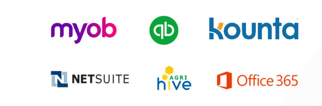 Software Integrations logos