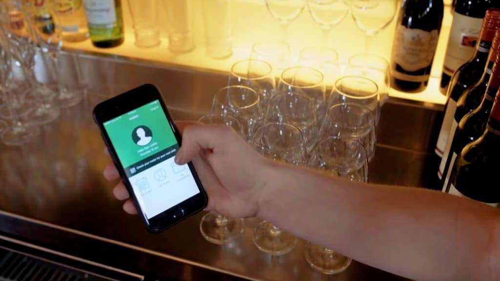 Roubler app in hospitality setting