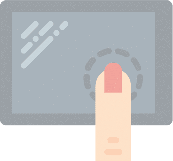Touchscreen illustration
