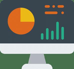 Computer dashboard illustration