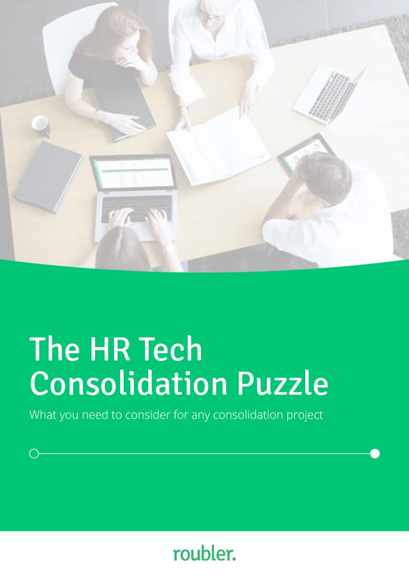 Cover of 'The HR Tech Consolidation Puzzle' Ebook