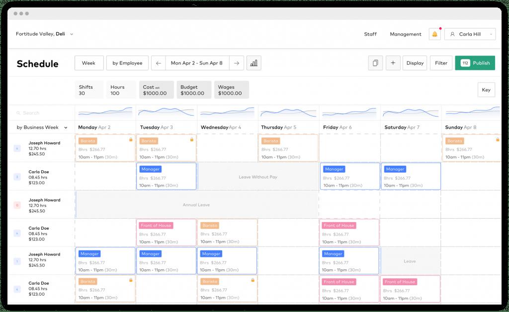 Schedule software on desktop