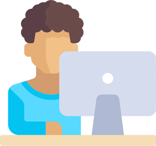 Computer user illustration