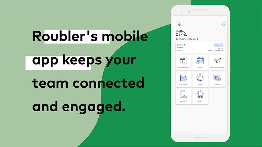 Roubler employee mobile app