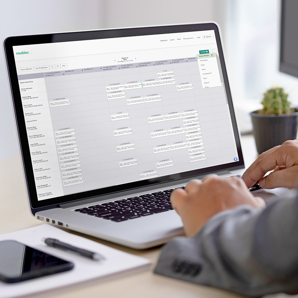 smart roster laptop