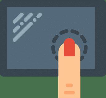 Touchscreen illustration