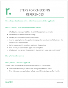 Steps for Checking References