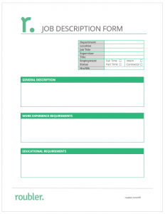 Job Description Form