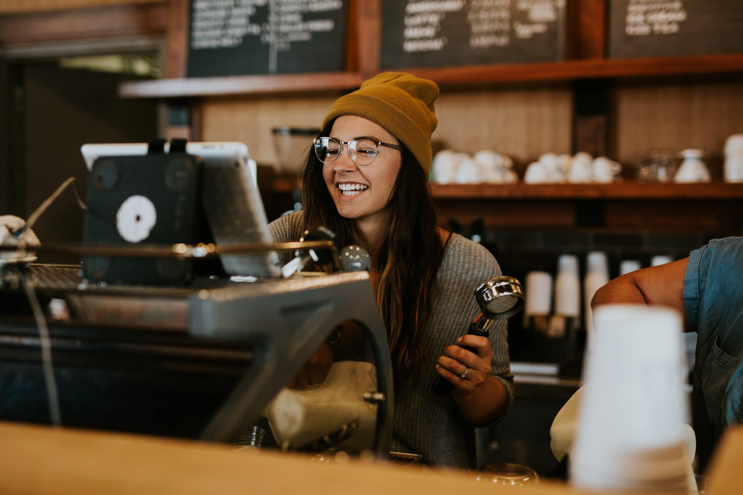 Barrister making coffee