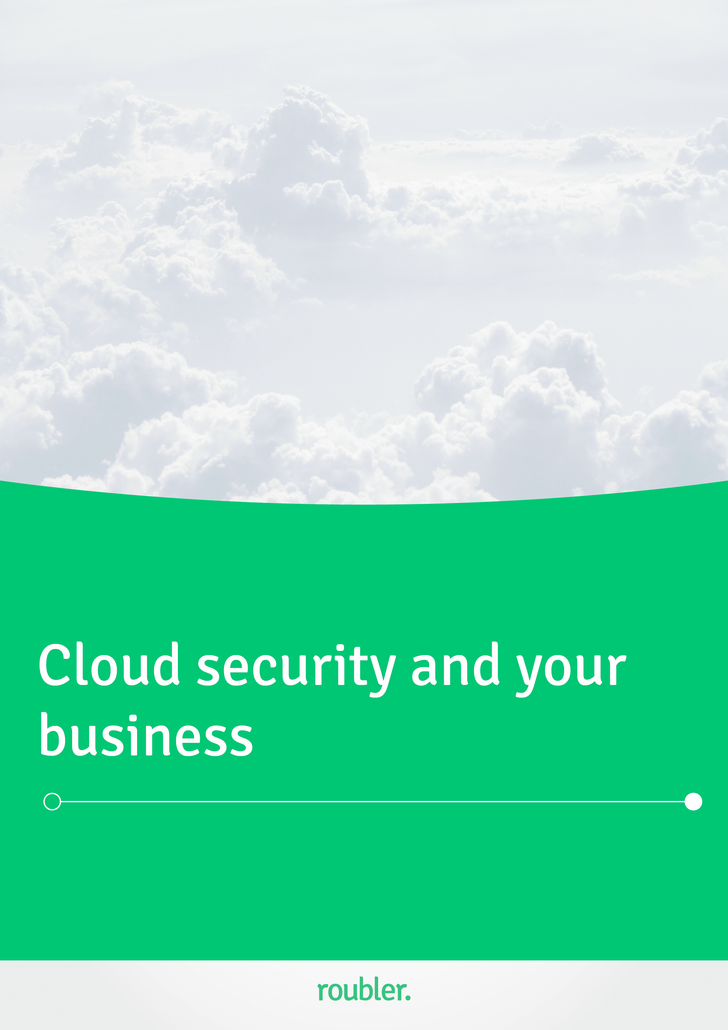 Cloud security and your business- cover page