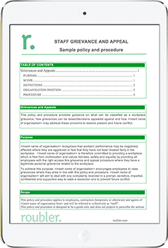 Employee Grievance and Appeal Template