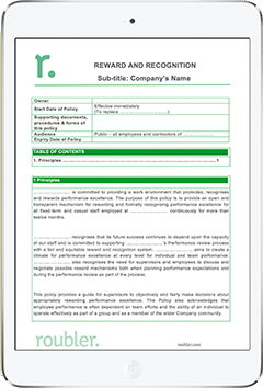 Workplace Reward and Recognition Template