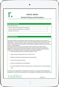 Workplace Social Media Template Policy and Procedure