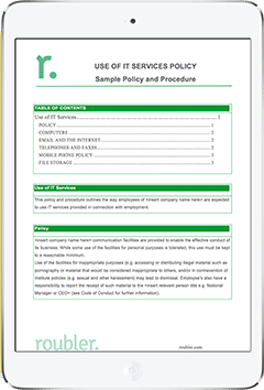 Workplace IT policy Template