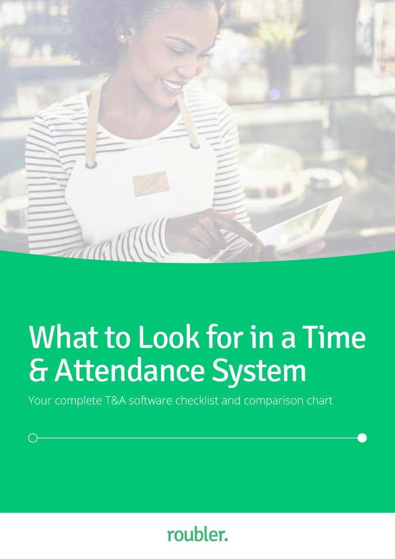 The cover of the 'What to look for in a Time & Attendance System' Guide