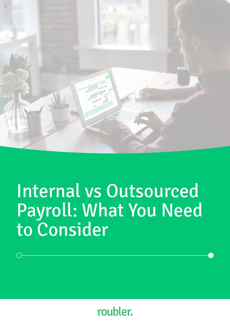 Cover of the 'Internal vs Outsourced Payroll: What You Need to Consider' Ebook